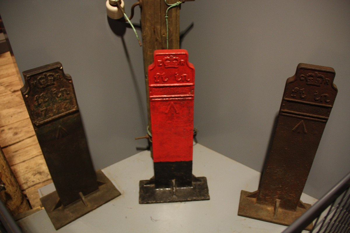 Telegraph cable marker post at Science and Industry Museum, Liverpool Road, Manchester by Richard Ash