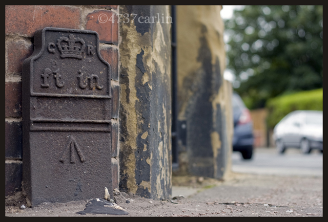 Telegraph cable marker post at 83 Birkenhead Road, Meols, Wirral by Bryan Sale-4737Carlin