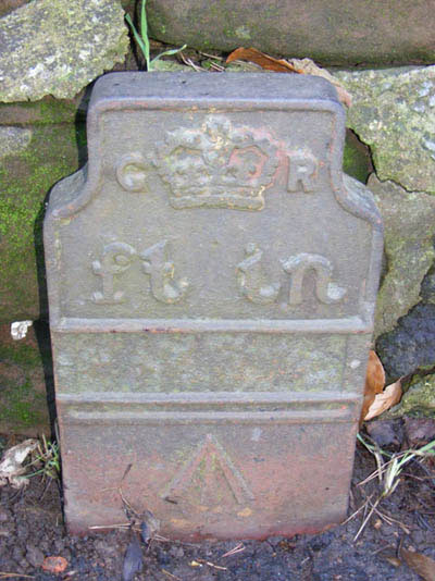 Telegraph cable marker post at Old Chester Road, Chetwynd, Newport (Shropshire) by Newport History Society SNAP Project