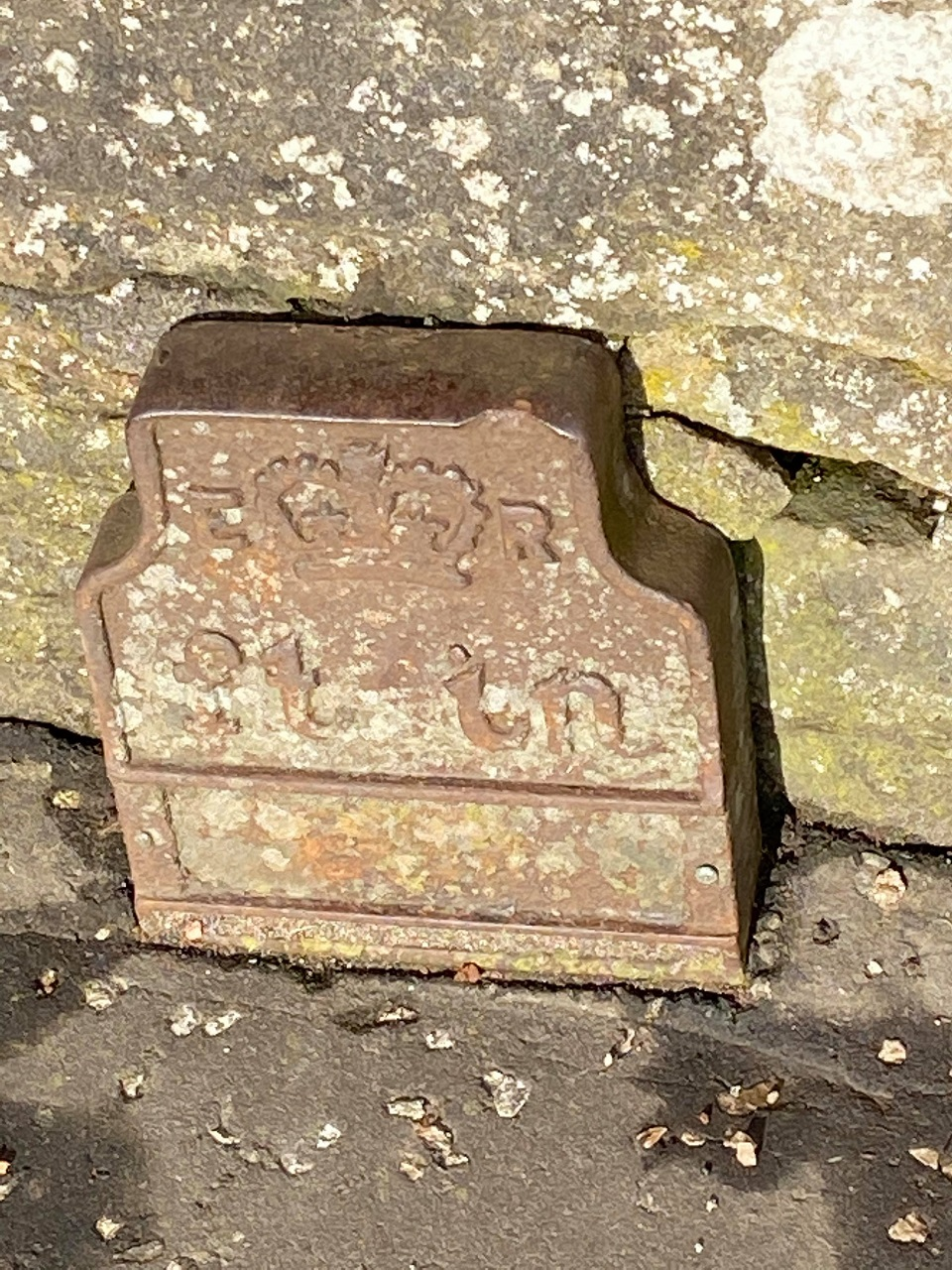 Telegraph cable marker post at opp. Ivybank House, Main Street, Polmont, Falkirk by David Thom