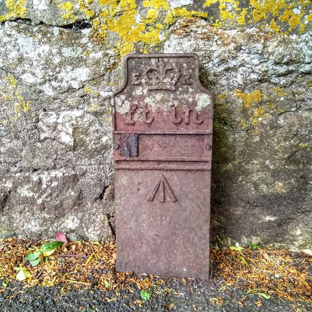Telegraph cable marker post at opp. Venton Vean, Trewithen Road, Penzance by Chris Mace