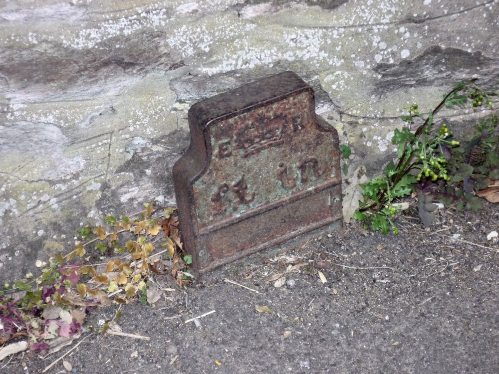 Telegraph cable marker post at 102 Fore St, North Petherton, Bridgwater by South West Heritage Trust
